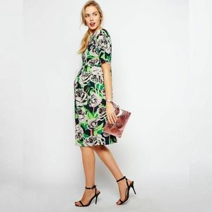 ASOS Maternity Wiggle Dress Floral